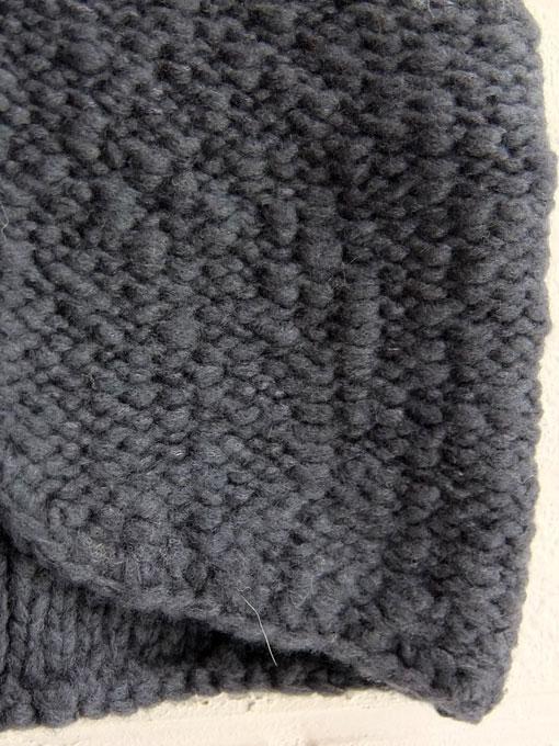 フランス子供服 BONTON モコモコガーター編みベスト