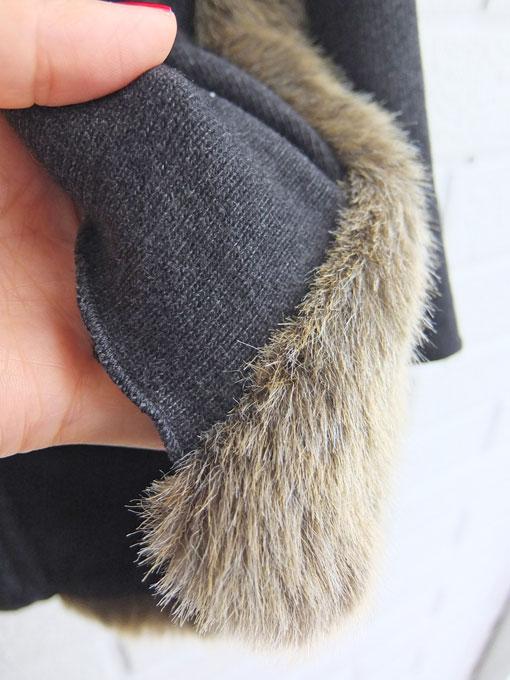イタリア子供服 DOUUOD 秋冬コレクション ファーカーディガン
