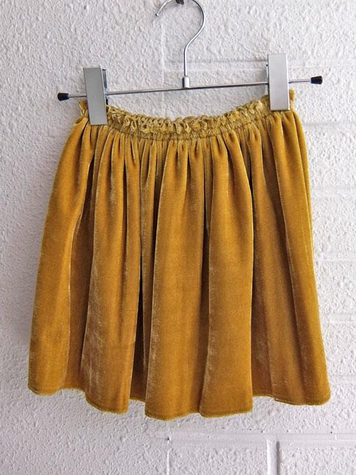 イタリア子供服 DOUUOD 秋冬コレクション ベルベットギャザースカート