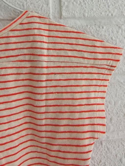 英国ブランド CARAMEL キャラメル AVOCADO ラグランリネンブレンドボーダーTシャツ
