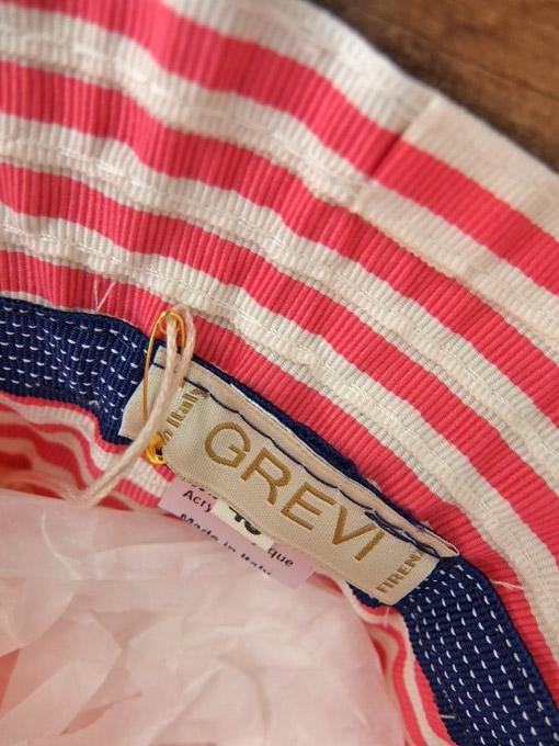 イタリア老舗帽子ブランド GREVI グレヴィ グログランリボンクロシェ