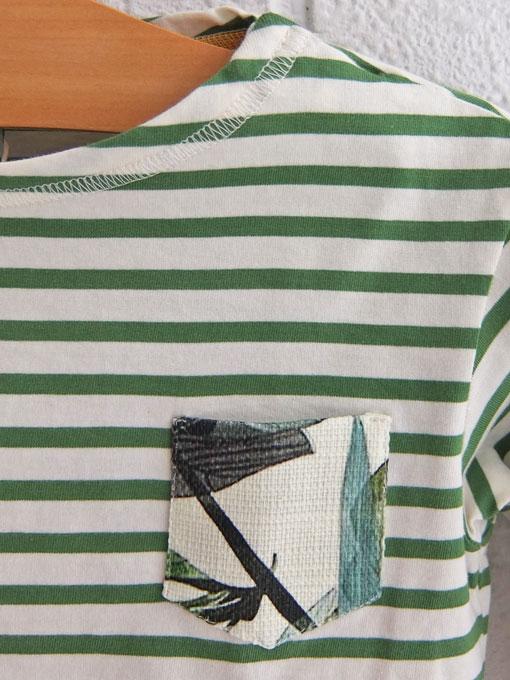 スペイン子供服 NANOS スペイン王室御用達高級子供服 ボーダー長袖Tシャツ