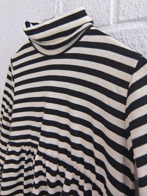 イタリア子供服 BABE&TESS ベイブアンドテス ボーダーハイネックワンピース
