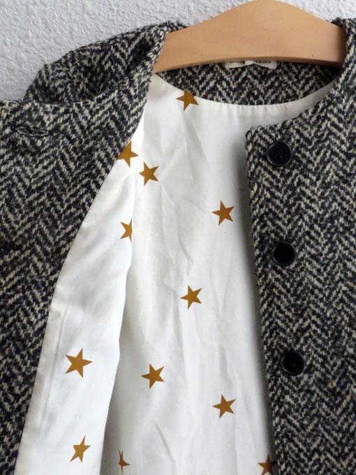 イタリア子供服 BABE&TESS ベイブアンドテス ジャガードノーカラーコート