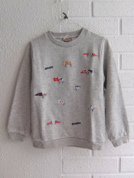フランス子供服 emile et ida エミールエイダ 刺繍スウェットトレーナー