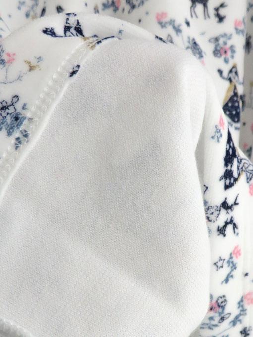 フランス子供服 PETIT BATEAU プチバトー ベロアプリント長袖パジャマ