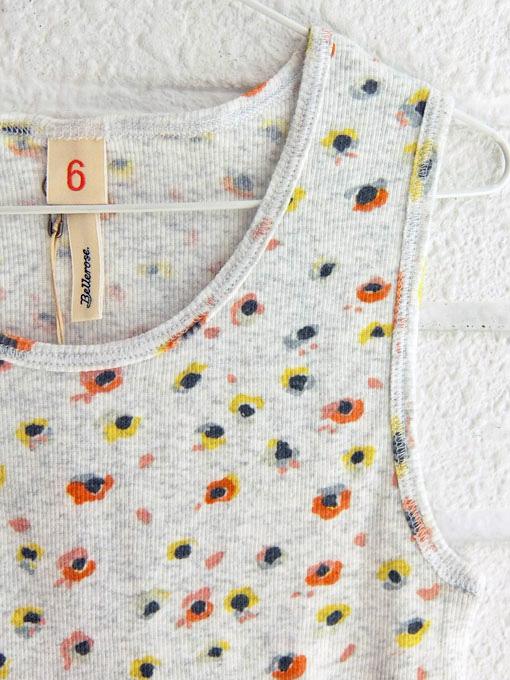 ベルギー子供服 bellerose kids ベルローズキッズ ガールズ 小花柄リブタンクトップ