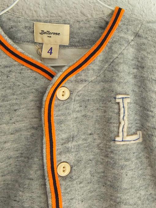 ベルギー子供服 bellerose kids ベルローズキッズ ボーイズ゙ ベースボールスウェットシャツ