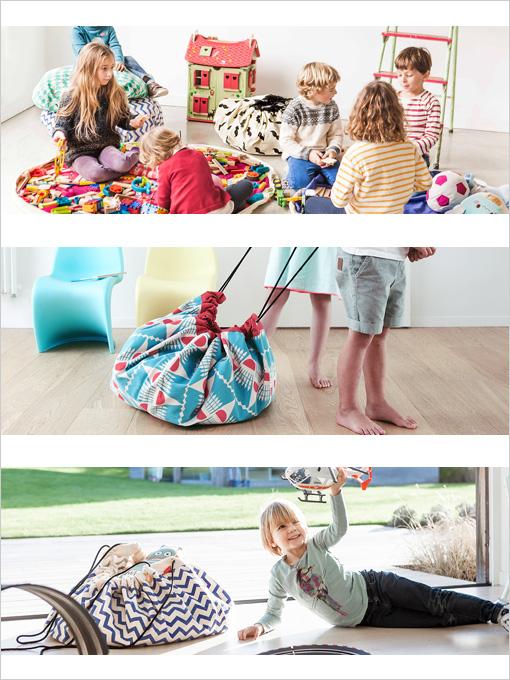 フランス子供服 PLAY&GO お片付けバッグ&プレイマット