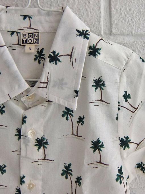 フランス子供服 BONTON ボントン ヤシの木プリントシャツ