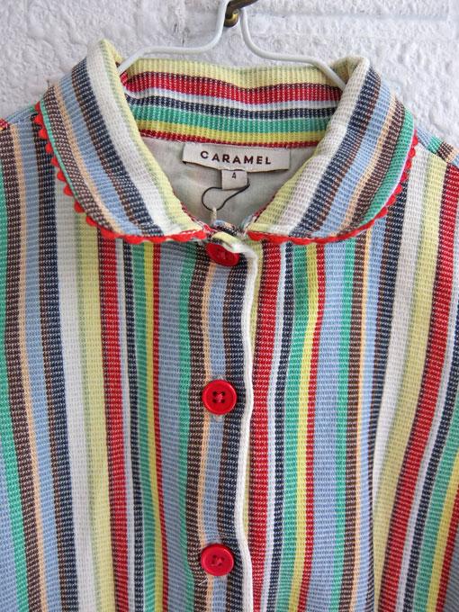 英国ブランド ロンドンブランド CARAMEL  キャラメル Balbina Dress, Multi Stripe ストライプノースリーブワンピース