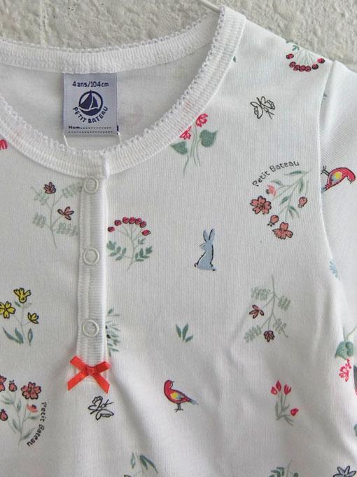フランス子供服 PETIT BATEAU プチバトー プリント長袖パジャマ
