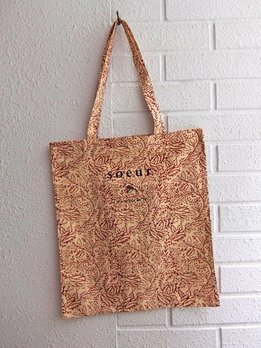 パリジェンヌに人気のフレンチカジュアルブランド soeur  スール ショッピングバッグ コットンバッグ