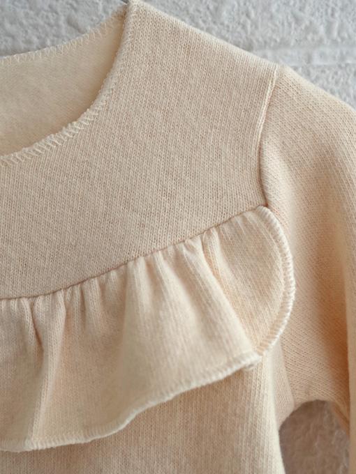 イタリア子供服 OLIVE フリルコットンフリーストップス