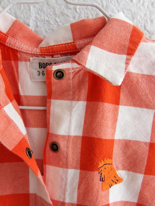 スペイン子供服 BOBO CHOSES ボボショーズ Vichy Buttons Playsuit チェックオーバーオール プレイスーツ