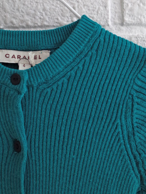 CARAMEL キャラメル caramel baby&child  Zenobia Cardigan, Candy コットンリブカーディガン