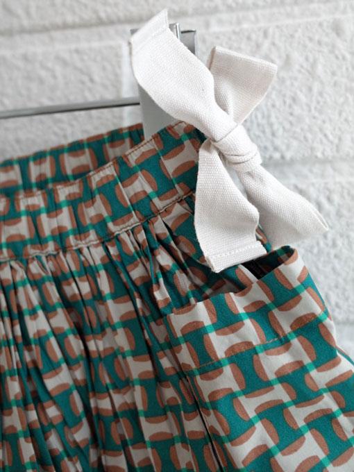 CARAMEL キャラメル caramel baby&child  Iris Skirt, Emerald Geo プリントフレアスカート