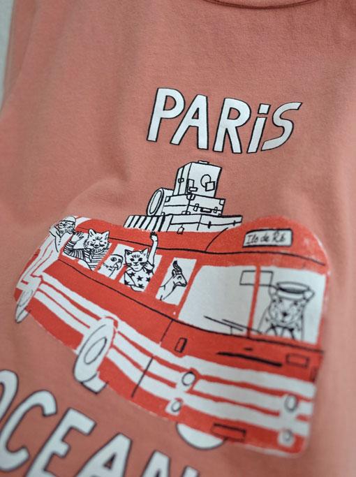 emile et ida エミールエイダ フランス子供服 リゾートバスプリントTシャツ