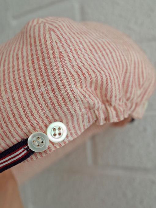 イタリア老舗帽子ブランド GREVI グレヴィ ボーイズリネン混キャップ