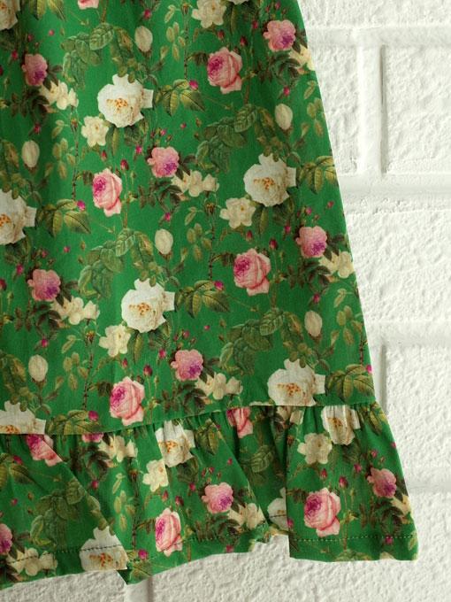 イタリア子供服 OLIVE オリーブローズプリントワンピース