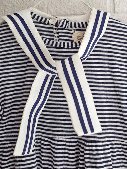 イタリア子供服 OLIVE オリーブセーラーリブコットンワンピース