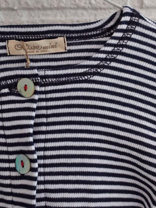 イタリア子供服 OLIVE ベビー ボーダージャージーカーディガン