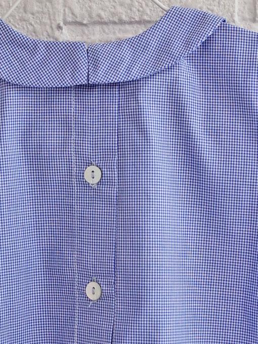 イタリア子供服 OLIVE ベビー ミニギンガムブラウスブルマセットアップ