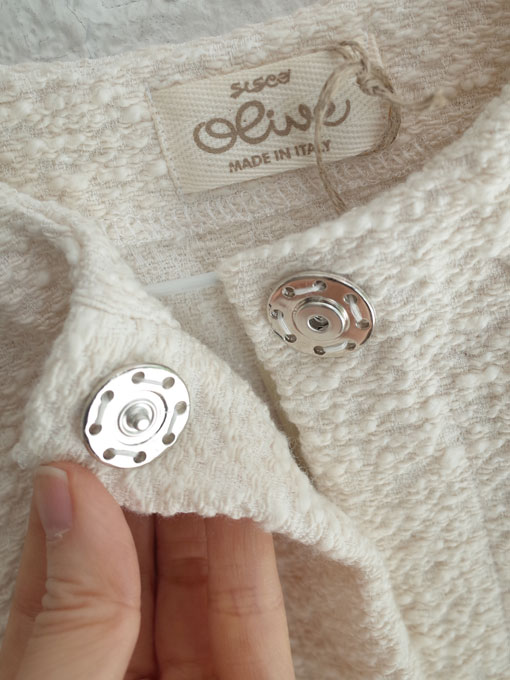 イタリア子供服 OLIVE オリーブハーフスリーブコットンジャケット