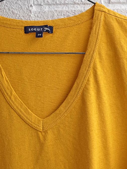 パリジェンヌに人気のフレンチカジュアルブランド soeur スール VネックTシャツ