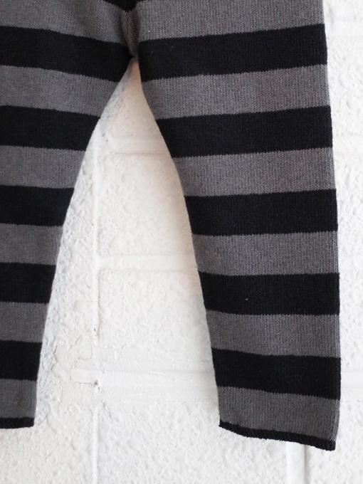 イタリア子供服 BABE&TESS 裏起毛ワイドボーダーベビーパンツ