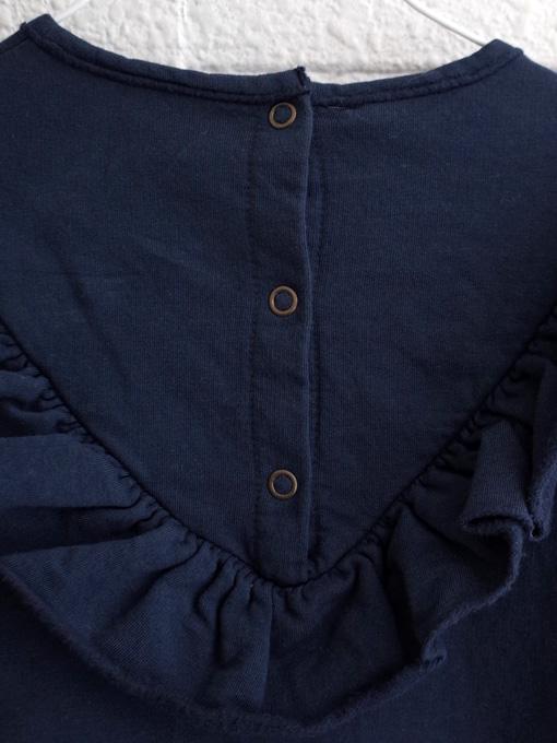 イタリア子供服 BABE&TESS 裏起毛フリルスウェットワンピース