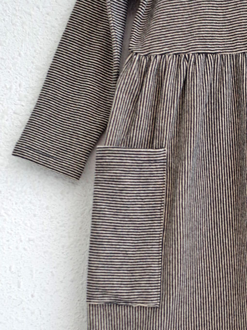 イタリア子供服 BABE&TESS 細ボーダージャージーワンピース