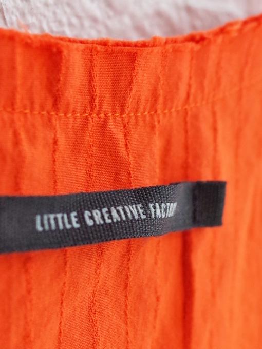 Little creative factory リトルクリエイティブファクトリー クラッシュブラウス