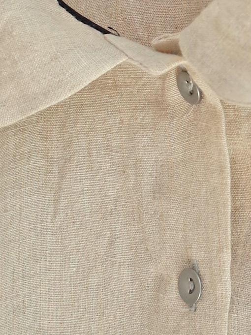 Le vestiaire de jeanne VDJ 3/4 sleeves shirt natural linen 丸襟リネン七分袖ブラウス