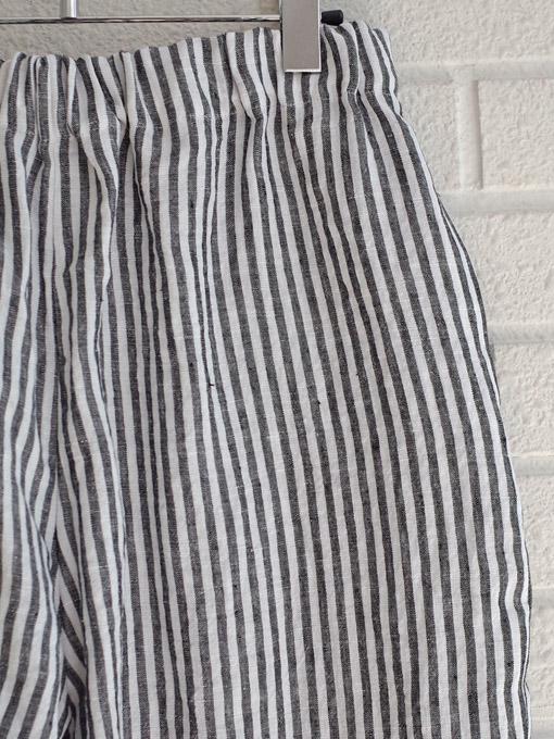 Le vestiaire de jeanne VDJ Classic trousers, light stripes linen リネンストライプロングパンツ