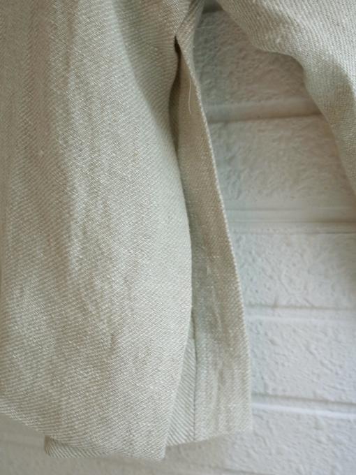 Le vestiaire de jeanne VDJ Flared jacket natural heavy linen 厚地リネンフレアジャケット