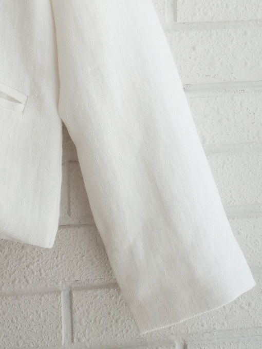 Le vestiaire de jeanne VDJ Woman jacket, linen Heavy white linen 厚地リネンジャケット