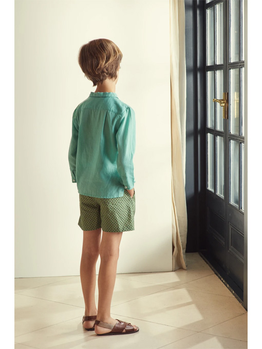 CARAMEL Lobster Shorts キャラメル 英国子供服 ジオプリントショートパンツ