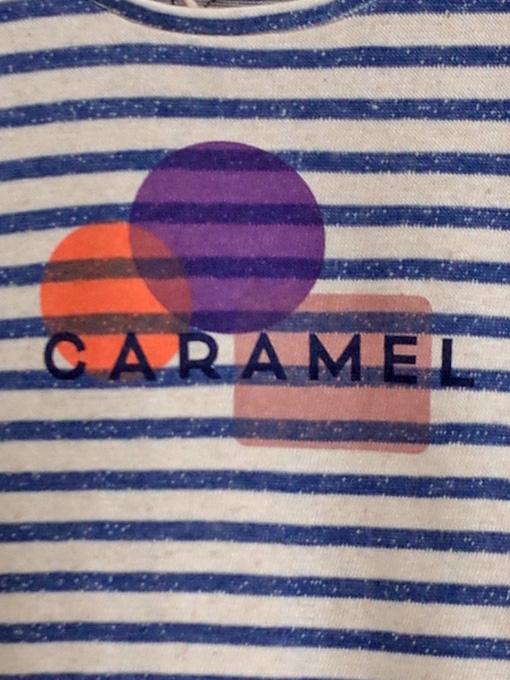 CARAMEL Otter T-Shirt キャラメル 英国子供服 リネン混ボーダーTシャツ
