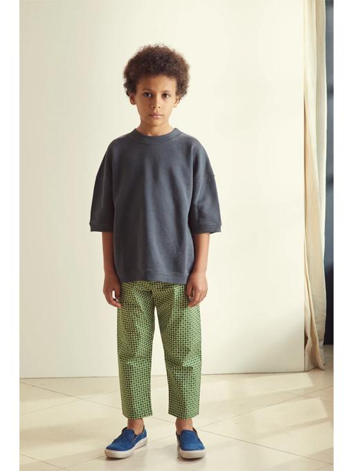 CARAMEL Manatee Sweatshirt, Slate Grey キャラメル 英国子供服 半袖スウェットトレーナー