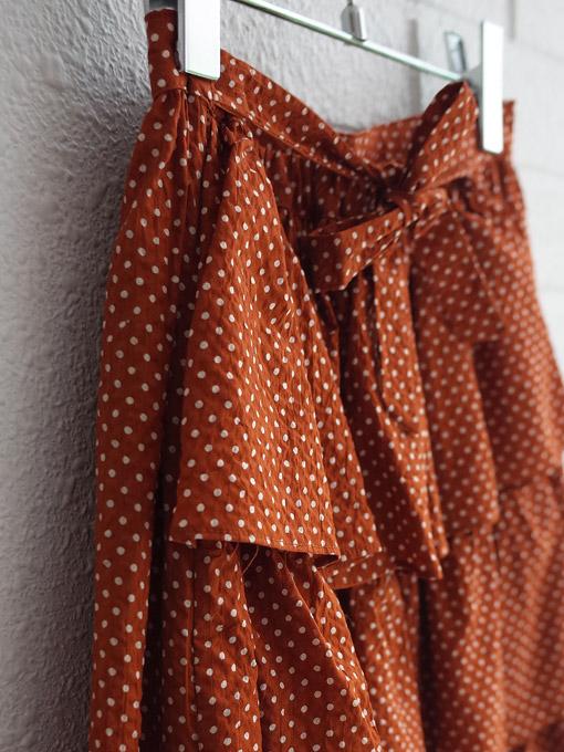 CARAMEL Flounder Skirt キャラメル 英国子供服 ピンドットラッフルスカート