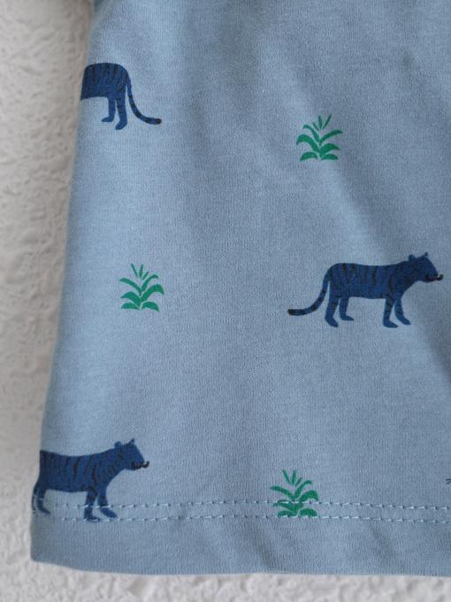 emile et ida エミールエイダ オーガニックコットン タイガープリントTシャツ