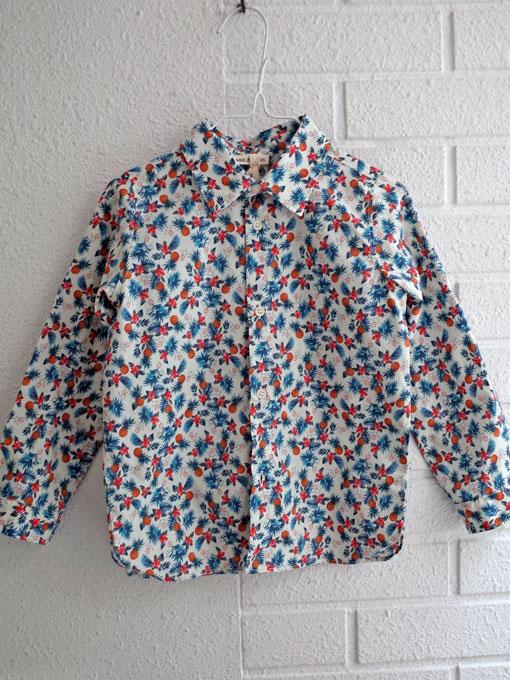 イタリア子供服 BABE&TESS ベイブアンドテス ボーイズ リバティ長袖シャツ