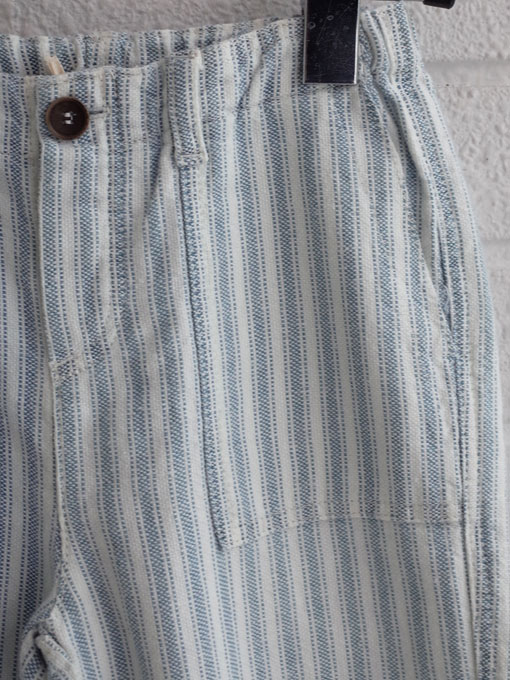 イタリア子供服 BABE&TESS ベイブアンドテス ボーイズ リネン混ストライプロングパンツ