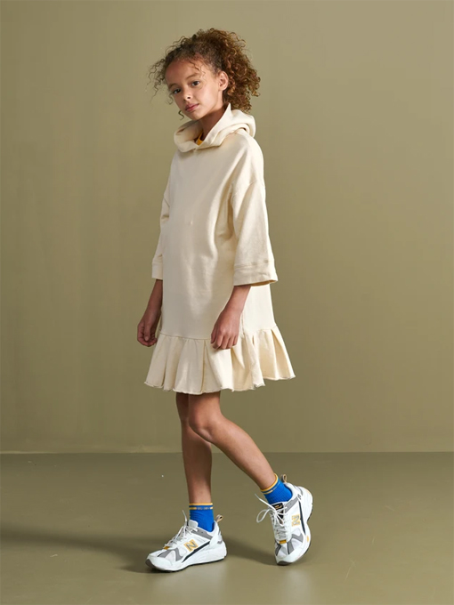 bellerose kids ガールズ ベルローズキッズ フードスウェットワンピース