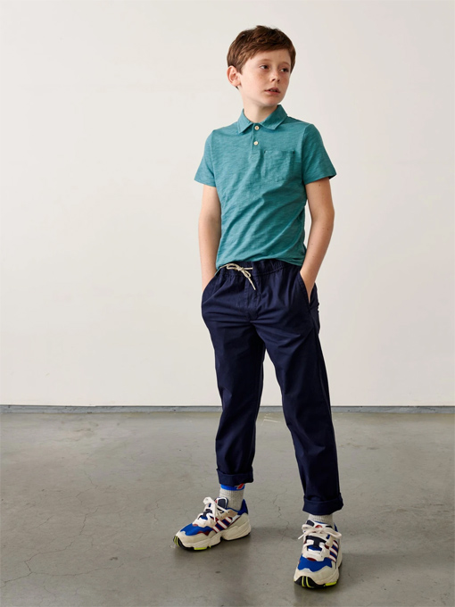bellerose kids ベルローズキッズ ボーイズ スラブジャージーポロシャツ