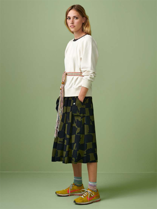bellerose woman ベルローズウーマン ビスコーススカート