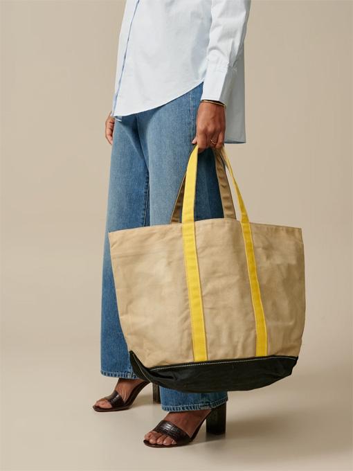 bellerose woman ベルローズウーマン ワックスコットントートバッグ