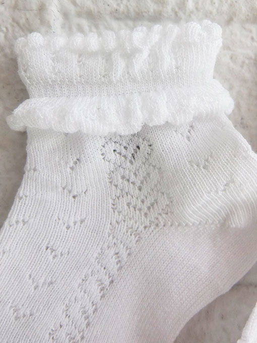 スペイン靴下ブランド CONDOR コンドル 靴下・タイツ リボンレース編みソックス