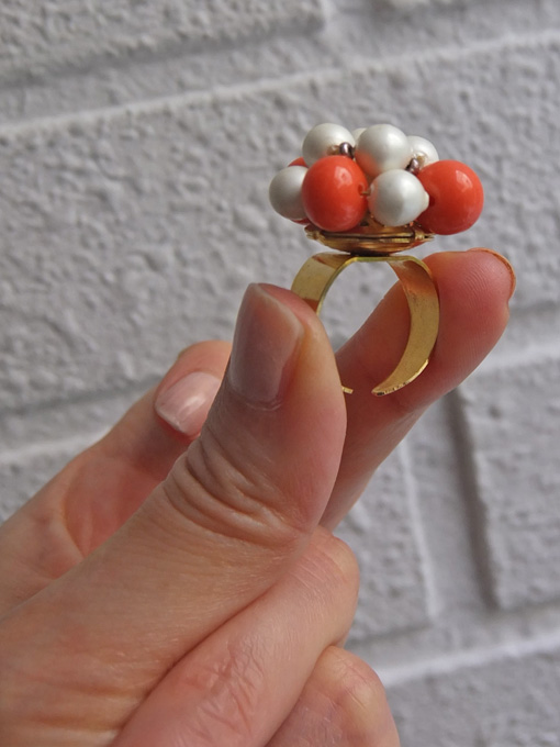 パリ蚤の市・クリニャンクール デッドストックアクセサリー 指輪 ビジューリング